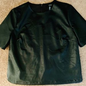 Forever 21 black faux leather top- item must go!